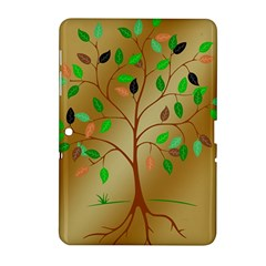 Tree Root Leaves Contour Outlines Samsung Galaxy Tab 2 (10.1 ) P5100 Hardshell Case