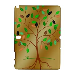 Tree Root Leaves Contour Outlines Galaxy Note 1