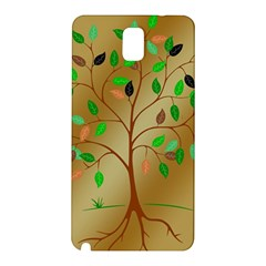 Tree Root Leaves Contour Outlines Samsung Galaxy Note 3 N9005 Hardshell Back Case