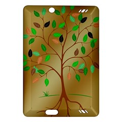 Tree Root Leaves Contour Outlines Amazon Kindle Fire HD (2013) Hardshell Case