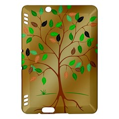 Tree Root Leaves Contour Outlines Kindle Fire HDX Hardshell Case