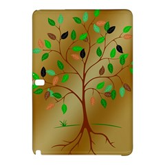 Tree Root Leaves Contour Outlines Samsung Galaxy Tab Pro 12.2 Hardshell Case