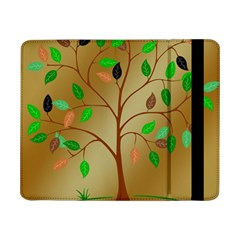 Tree Root Leaves Contour Outlines Samsung Galaxy Tab Pro 8.4  Flip Case
