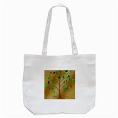 Tree Root Leaves Contour Outlines Tote Bag (white)