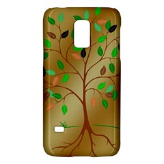 Tree Root Leaves Contour Outlines Galaxy S5 Mini