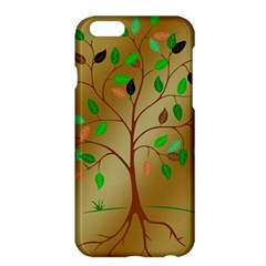 Tree Root Leaves Contour Outlines Apple iPhone 6 Plus/6S Plus Hardshell Case