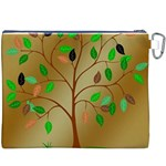 Tree Root Leaves Contour Outlines Canvas Cosmetic Bag (XXXL) Back