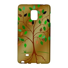 Tree Root Leaves Contour Outlines Galaxy Note Edge