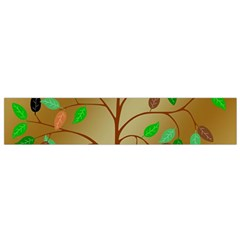 Tree Root Leaves Contour Outlines Flano Scarf (Small)