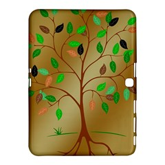 Tree Root Leaves Contour Outlines Samsung Galaxy Tab 4 (10.1 ) Hardshell Case