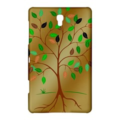 Tree Root Leaves Contour Outlines Samsung Galaxy Tab S (8 4 ) Hardshell Case