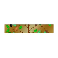 Tree Root Leaves Contour Outlines Flano Scarf (Mini)