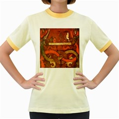 Works From The Local Women s Fitted Ringer T-Shirts