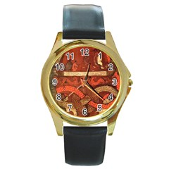 Works From The Local Round Gold Metal Watch
