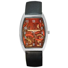 Works From The Local Barrel Style Metal Watch