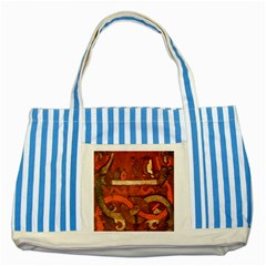 Works From The Local Striped Blue Tote Bag