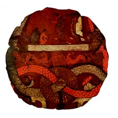 Works From The Local Large 18  Premium Round Cushions