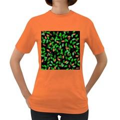 Leaves True Leaves Autumn Green Women s Dark T-Shirt