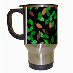 Leaves True Leaves Autumn Green Travel Mugs (White)