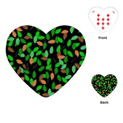Leaves True Leaves Autumn Green Playing Cards (Heart)