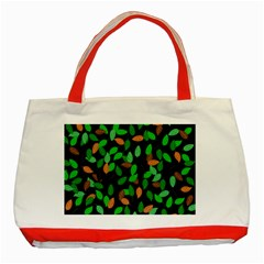 Leaves True Leaves Autumn Green Classic Tote Bag (Red)