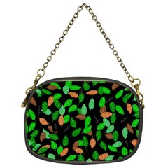 Leaves True Leaves Autumn Green Chain Purses (one Side)