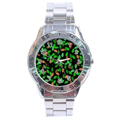 Leaves True Leaves Autumn Green Stainless Steel Analogue Watch