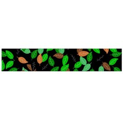 Leaves True Leaves Autumn Green Flano Scarf (large)