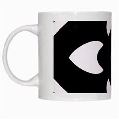 Pattern Background White Mugs