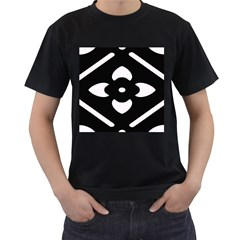 Pattern Background Men s T-Shirt (Black) (Two Sided)
