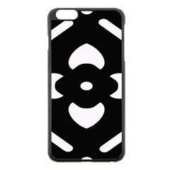 Pattern Background Apple Iphone 6 Plus/6s Plus Black Enamel Case