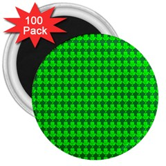 St  Patricks Day Green 3  Magnets (100 pack)