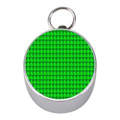 St  Patricks Day Green Mini Silver Compasses