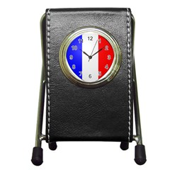 Shield on the French Senate Entrance Pen Holder Desk Clocks