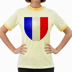 Shield on the French Senate Entrance Women s Fitted Ringer T-Shirts