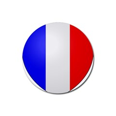 Shield on the French Senate Entrance Rubber Coaster (Round)
