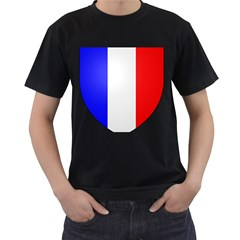 Shield on the French Senate Entrance Men s T-Shirt (Black) (Two Sided)