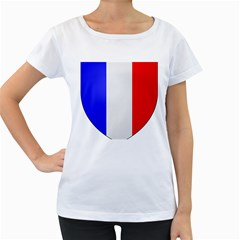 Shield on the French Senate Entrance Women s Loose-Fit T-Shirt (White)