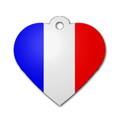 Shield on the French Senate Entrance Dog Tag Heart (One Side)