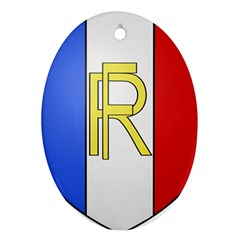 Semi-Official Shield of France Ornament (Oval)