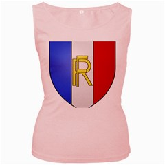 Semi-Official Shield of France Women s Pink Tank Top