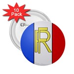 Semi-Official Shield of France 2.25  Buttons (10 pack)  Front