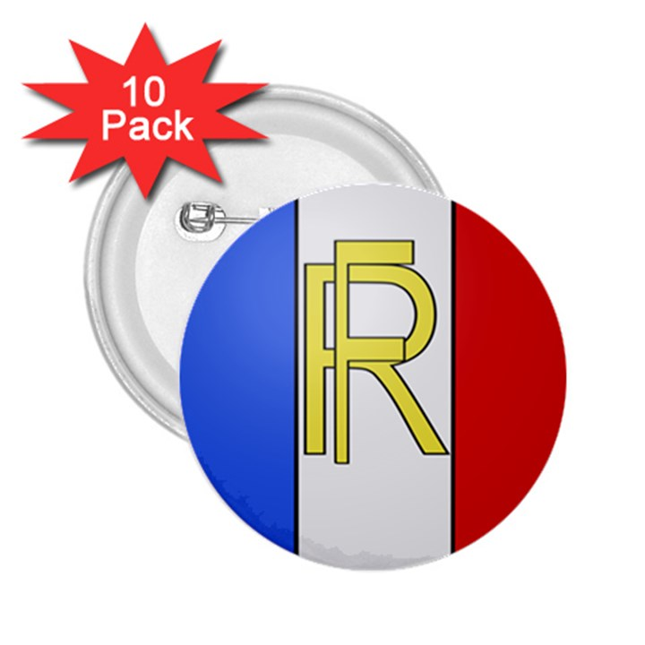 Semi-Official Shield of France 2.25  Buttons (10 pack)
