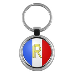 Semi-Official Shield of France Key Chains (Round)