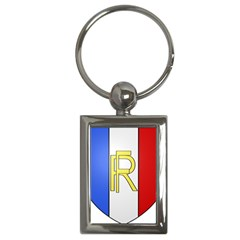 Semi-Official Shield of France Key Chains (Rectangle)