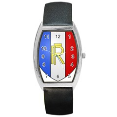 Semi-Official Shield of France Barrel Style Metal Watch