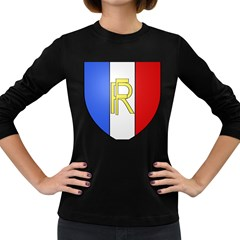 Semi-Official Shield of France Women s Long Sleeve Dark T-Shirts