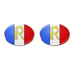 Semi-Official Shield of France Cufflinks (Oval)