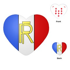 Semi-Official Shield of France Playing Cards (Heart)