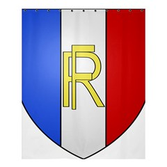 Semi-Official Shield of France Shower Curtain 60  x 72  (Medium)